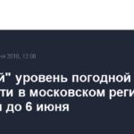 «Желтый» уровень погодной опасности в московском регионе продлен до 6 июня
