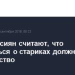 62% россиян считают, что заботиться о стариках должно государство