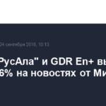 Акции «РусАла» и GDR En+ выросли на 2,5-7,6% на новостях от Минфина США