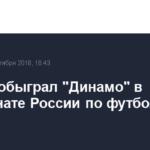 «Анжи» обыграл «Динамо» в чемпионате России по футболу