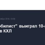 «Автомобилист» выиграл 10-й матч подряд в КХЛ