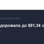 Brent подорожала до $81,34 за баррель
