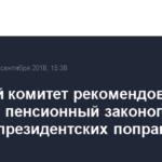 Думский комитет рекомендовал принять пенсионный законопроект с учетом президентских поправок