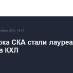 Два игрока СКА стали лауреатами недели в КХЛ