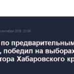 Фургал, по предварительным данным, победил на выборах губернатора Хабаровского края