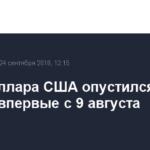 Курс доллара США опустился до 66 рублей впервые с 9 августа