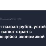 Орешкин назвал рубль устойчивым на фоне валют стран с развивающейся экономикой