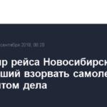 Пассажир рейса Новосибирск — Баку, угрожавший взорвать самолет, стал фигурантом дела