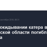 При опрокидывании катера в Саратовской области погибли два человека