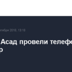 Путин и Асад провели телефонный разговор