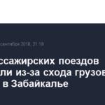 Пять пассажирских поездов задержали из-за схода грузовых вагонов в Забайкалье