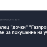 Совладелец «дочки» «Газпрома» арестован за покушение на убийство