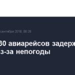 Свыше 30 авиарейсов задержаны в Перми из-за непогоды