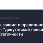 Володин заявил о правильности отказа от «депутатской пенсии» при самодостаточности