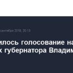 Завершилось голосование на выборах губернатора Владимирской области